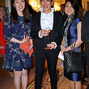 London,England,UK : 6th May 2016 : Dr. Bernice Pan (M) is an architect-turned-fashion designer, founder of  DePLOY demi-couture latest Spring-Summer Brides Catwalk Show & Style Event at Strand, London. Photo by See Li