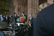 Mayor Michael Bloomberg gives press conference about Crane Accident which happened in NYC, during his attendance at the Swearing-in of the Honorable David A. Patterson at the 55th Governor of New York  at The New York State Capitol in the Assembly Chambers on March 17, 2008