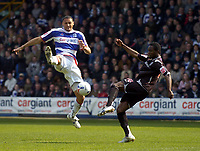 Photo: Olly Greenwood.<br />Queens Park Rangers v West Bromwich Albion. Coca Cola Championship. 31/03/2007. West Brom's Sam Sodje and QPR's Marc Nygaard