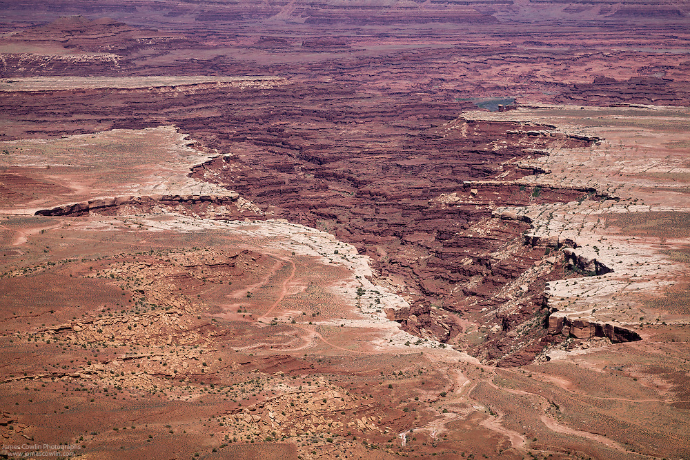 Monument Basin from Grand View Point Overlook in Canyonlands National Park