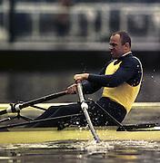 © 2000 All Rights Reserved - Peter Spurrier Sports Photo. <br /> Tel 44 (0) 1784-440 771  <br /> Mobile 44 (0) 973 819 551<br /> email pictures@rowingpics.com<br /> <br /> Vaclav Chalupa<br /> <br /> <br /> <br /> <br /> <br /> <br /> <br /> <br /> <br />    [Mandatory Credit, Peter Spurier/ Intersport Images] 20010301 Thames World Sculling Challenge, Putney, London