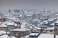 Snowy winter in Burgas