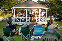 2nd Baptist Church in Sanbornton hosts a spaghetti dinner and Big Band concert to raise funds for the renovation of their bandstand on the front lawn Thursday,  July 28, 2011.