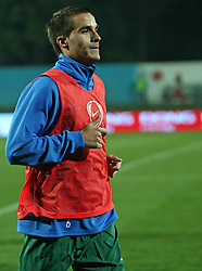 Mitja Morec (6) of Slovenia before the UEFA Friendly match between national teams of Slovenia and Denmark at the Stadium on February 6, 2008 in Nova Gorica, Slovenia. Slovenia lost 2:1. (Photo by Vid Ponikvar / Sportal Images).