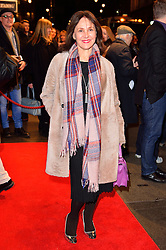 © Licensed to London News Pictures. 16/02/2016. ARLELE PHILLIPS arrives for the press night of Mrs Henderson Presents press night at the Noel Coward Theatre. London, UK. Photo credit: Ray Tang/LNP