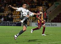 Photo: Paul Thomas.<br /> Bradford v Bristol City. Coca Cola League 1. 08/08/2006.<br /> <br /> Phil Jevons (Bristol) has this shot just saved by Bradford goal keeper, Donovan Ricketts.