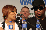 """Cherri Dennis and Guerilla Zoe at the Hip-Hop Summit's """"Get Your Money Right"""" Financial Empowerment International Tour draws hip-hop stars and financial experts to teach young people about financial literacy held at The Johnson C. Smith University's Brayboy Gymnasium on April 26, 2008..For the past three years, hip-hop stars have come out around the country to give back to their communities. Sharing personal stories about the mistakes they've made with their own finances along the way, and emphasizing the difference between the bling fantasy of videos and the realities of life, has helped young people learn the importance of financial responsibility while they're still young. With the recent housing market crash in the United States affecting the economy, jobs, student loans and consumer confidence, young people are eager to receive sound financial advice on how to best manage their money and navigate through this volatile economic environment.."""
