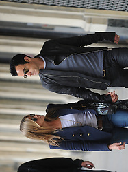 """File photo - US actress Jennifer Aniston and her boyfriend Justin Theroux are strolling near Palais Royal in Paris, France on June 11, 2012. Hollywood couple Jennifer Aniston and Justin Theroux are separating after two years of marriage. The pair, who reportedly met on the set of comedy film Wanderlust, said the mutual decision was """"lovingly made"""" at the end of last year. Photo by ABACAPRESS.COM"""