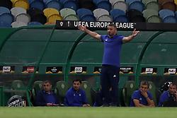 September 20, 2018 - Lisbon, Portugal - Qarabag's head coach Gurban Gurbanov  gestures during the UEFA Europa League Group E football match Sporting CP vs Qarabag at Alvalade stadium in Lisbon, on September 20, 2018. (Credit Image: © Pedro Fiuza/NurPhoto/ZUMA Press)