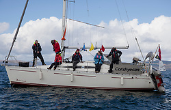 The RYA Youth National Championships Day <br /> Day 4.<br /> <br /> Committee Vessel, Corshyecan<br /> <br /> Images: Marc Turner / RYA<br /> <br /> For further information contact:<br /> <br /> Richard Aspland, <br /> RYA Racing Communications Officer (on site)<br /> E: richard.aspland@rya.org.uk<br /> m: 07469 854599
