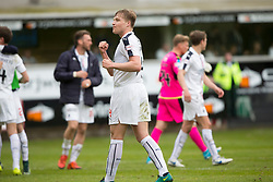 Falkirk's Peter Grant at the end, Dunfermline 1 v 2 Falkirk, Scottish Championship game played 22/4/2017 at Dunfermline's home ground, East End Park.