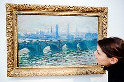 Painting Waterloo Bridge by Claude Monet at Kunsthalle art museum in Hamburg Germany