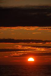 Sunset from Kalaloch Beach, Olympic Peninsula, Washington, US