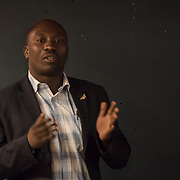 "Dominique Bikaba from Democratic Republic of the Congo ""Ensuring the survival of DRC's eastern lowland gorillas"" Winner of the Whitley Award donated by Arcus Foundation outstanding efforts to protect some of the world's most endangered animals and their habitat from Pooches, trophy hunting, medicine and food consumption. the goal for Whitley Fund for Nature is to reach the mind of the people and politicians on 26 April 2018 at Library in  London, UK."