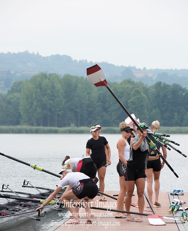 Varese. ITALY. CAN W8+ Boating.   2015 FISA World Cup II Venue Lake Varese. Thursday  18/06/2015 [Mandatory Credit: Peter Spurrier/Intersport images]