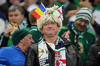 ROMANIA, Bucharest: Northern Ireland's fans during the Euro 2016 Group F qualifying football match Romania vs Northern Ireland in Bucharest, Romania on November 14, 2014.