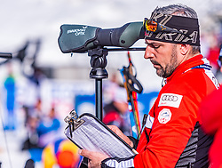 15.02.2020, Suedtirol Arena, Antholz, ITA, IBU Weltmeisterschaften Biathlon, Herren, 10 km Sprint, im Bild Ricco Gross Cheftrainer Biathlon Trainingsgruppe I (AUT) // Ricco Groß head coach biathlon training group I of Austria during men's 10 km Sprint of IBU Biathlon World Championships 2020 at the Suedtirol Arena in Antholz, Italy on 2020/02/15. EXPA Pictures © 2020, PhotoCredit: EXPA/ Stefan Adelsberger