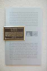Info of First Computer In the Middle East at the Chiam Weizmann Institute
