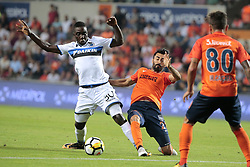 August 2, 2017 - Istanbul, Turquie - ISTANBUL, TURKEY - AUGUST 02 : Marvelous Nakamba midfielder of Club Brugge and Mahmut Tekdemir of Istanbul Basaksehir pictured during the UEFA Champions League third qualifying round 2nd leg match between Istanbul Basaksehir and Club Brugge at the Basaksehir Fatih Terim Stadium on August 02, 2017 in Istanbul, Turkey, 2/08/17 (Credit Image: © Panoramic via ZUMA Press)