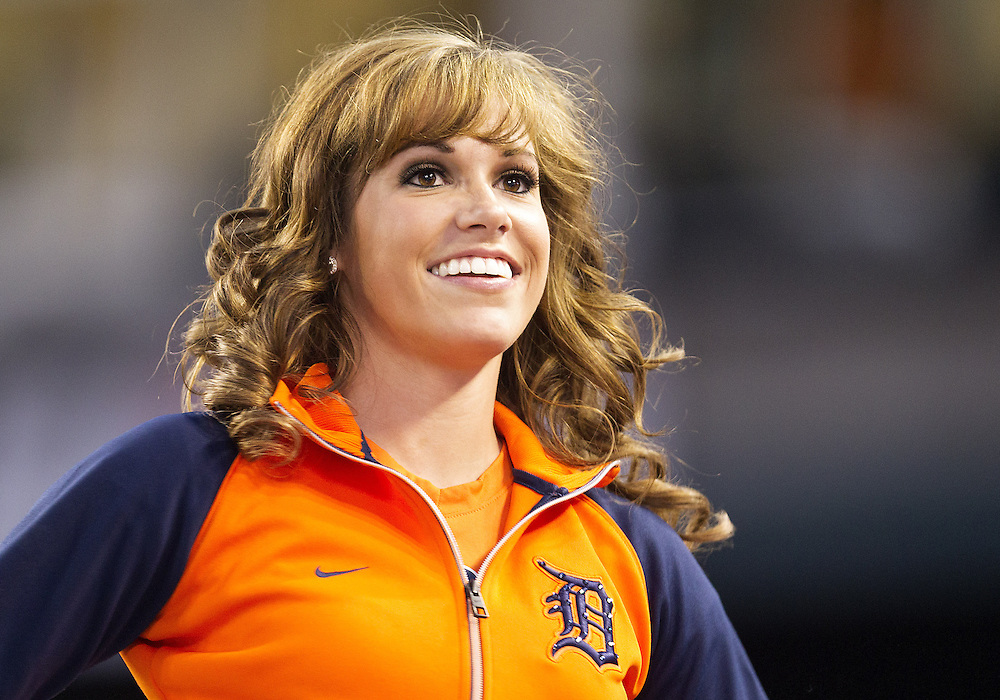 June 18, 2013:  Detroit Tigers Energy Squad member Chelsea Estes during MLB game action between the Baltimore Orioles and the Detroit Tigers at Comerica Park in Detroit, Michigan.  The Orioles defeated the Tigers 5-2.