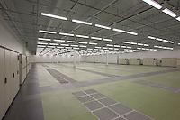 Interior  image of empty server room at Manassas Data Center
