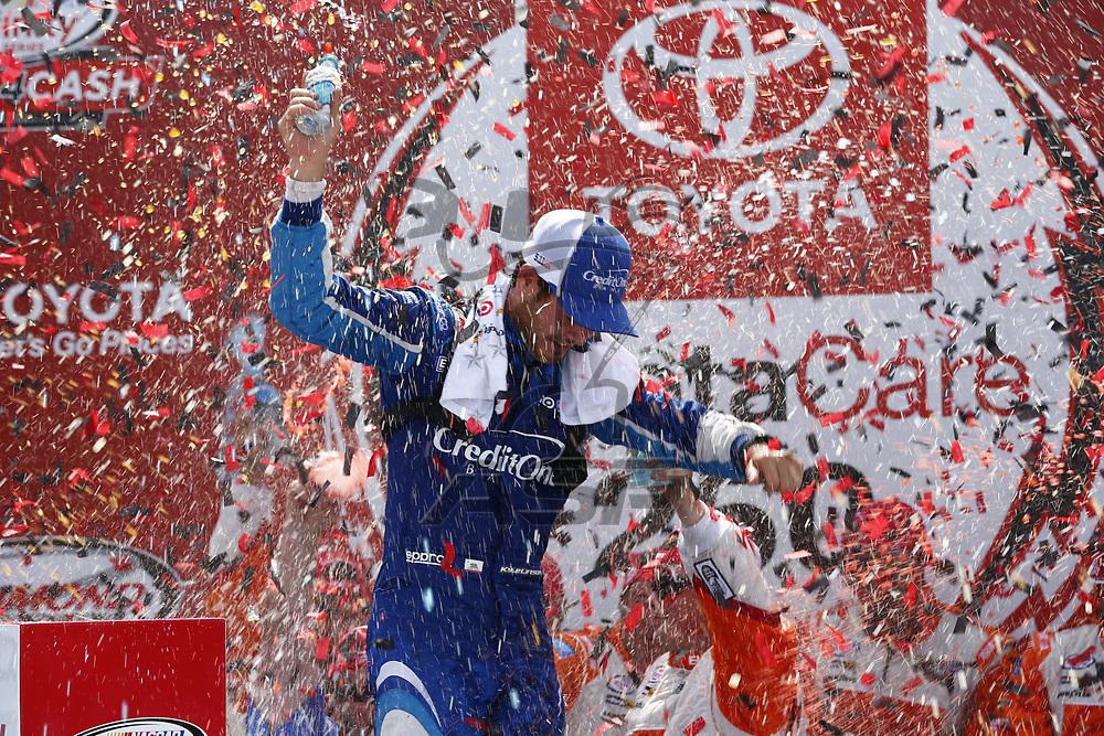 April 29, 2017 - Richmond, Virginia, USA: Kyle Larson (42) wins the ToyotaCare 250 at Richmond International Speedway in Richmond, Virginia.