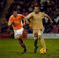Photo: Jed Wee.<br /> Blackpool FC v Bristol City. Coca Cola League 1. 21/01/2006.<br /> Bristol's Marcus Stewart (R) attacks.