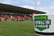 Junior League signage before the NRL Trial, Vodafone Warriors v Wests Tigers, Rotorua Stadium, Rotorua, Sunday, March 01, 2020. Copyright photo: Kerry Marshall / www.photosport.nz