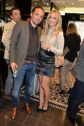 Footballer MATTHEW ETHERINGTON and his wife STEPHANIE ETHERINGTON at the Thomas sabo & Professional Player cocktail reception at Thomas sabo, 65 South Molton Street, London on 30th September 2015.