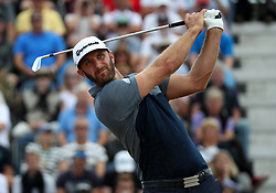 USA's Dustin Johnson on the 3rd tee during day one of The Open Championship 2018 at Carnoustie Golf Links, Angus. PRESS ASSOCIATION Photo. Picture date: Thursday July 19, 2018. See PA story GOLF Open. Photo credit should read: Jane Barlow/PA Wire. RESTRICTIONS: Editorial use only. No commercial use. Still image use only. The Open Championship logo and clear link to The Open website (TheOpen.com) to be included on website publishing.