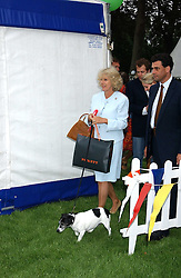 HRH The DUCHESS OF CORNWALL at the 3rd annual Macmillan Dog Day in aid of Macmillan Cancer Relief held at Royal Hospital Chelsea, London SW3 on 5th July 2005.<br />