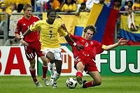 Fotball <br /> FIFA World Youth Championships 2005<br /> Nederland / Holland<br /> Foto: ProShots/Digitalsport<br /> <br /> canada - colombia, tilburg, 15-06-2005<br /> <br /> ryan gyaki en hugo rodallega