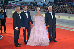"Lady Gaga, Bradley Cooper - ""A Star Is Born"" Red Carpet Arrivals - 75th Venice Film Festival. 31 Aug 2018 Pictured: Alberto Barbera, Bradley Cooper, Lady Gaga, Paolo Baratta. Photo credit: KILPIN / MEGA TheMegaAgency.com +1 888 505 6342"