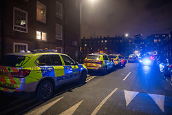 © Licensed to London News Pictures. 02/01/2021. London, UK. Armed Responce Vehicles close to the staging area. Police attended a call 14:12 GMT on Saturday 2nd January to a disturbance at Great Dover Street, SE1. Due to threats made to officers, a multi-agency response was coordinated. Photo credit: Peter Manning/LNP