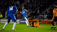 Photo: Jed Wee/Sportsbeat Images.<br /> Hull City v Chelsea. Carling Cup. 26/09/2007.<br /> <br /> Chelsea's Scott Sinclair opens the scoring.