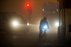 © Licensed to London News Pictures. 27/11/2020. <br /> New Eltham, UK. Foggy roads this morning in New Eltham. Freezing foggy weather conditions this Friday morning across large parts of the UK. Photo credit:Grant Falvey/LNP