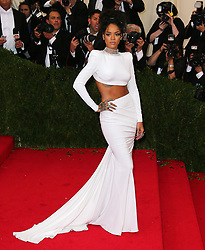 Rihanna attending The Costume Institute Benefit Gala held at The Metropolitan Museum of Art in New York, USA.