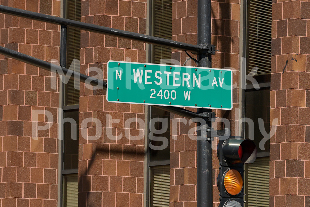Western Avenue street sign in Lincoln Square neighborhood of in Chicago on Friday, Sept. 4, 2020. Photo by Mark Black