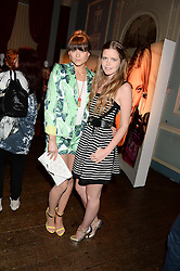 Left to right, LILAH PARSONS and KATIE READMAN at the Juicy Couture - Viva La Juicy perfume Party held at Home House, Portman Square, London on 30th May 2013.