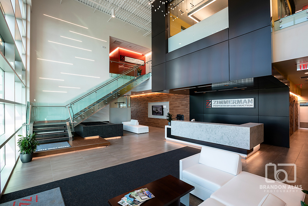 Real Estate photography of a modern office building by Brandon Alms Photography