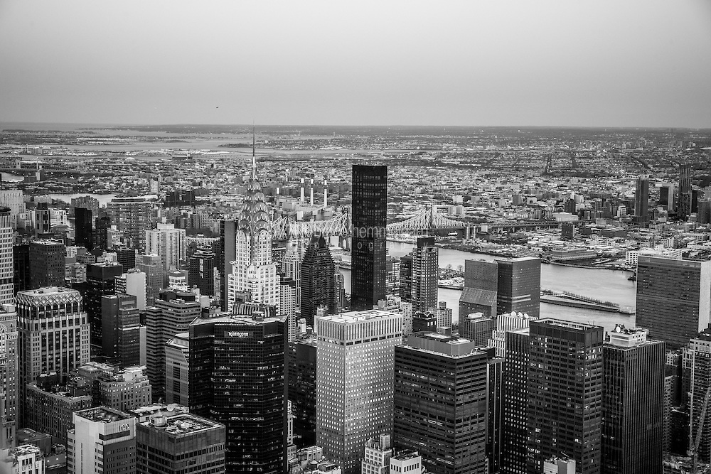 New York City. February 2016.<br /> <br /> The view atop the Empire State Building.