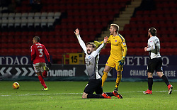 Gwion Edwards of Peterborough United appeals for a penalty - Mandatory by-line: Joe Dent/JMP - 28/11/2017 - FOOTBALL - The Valley - Charlton, London, England - Charlton Athletic v Peterborough United - Sky Bet League One