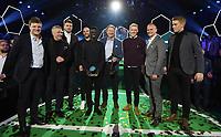 Fotball , 27. november 2017 , Fotballfesten 2017  , Eliteserien , OBOSligaen<br /> Prisvinnere: Åge Hareide  ,  Jakob Glesnes , Tore Reginiussen , Nicklas Bendtner<br /> Kåre Ingebrigtsen  , Truls Waaktaar Scøne , Krepin Diatta , Aasmund Bjørkan