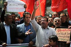 May 1, 2019 - Gaza, gaza strip, Palestine - Palestinians take part in a rally marking International Workers' Day, or Labour Day, in Gaza City May 1, 2019. (Credit Image: © Majdi Fathi/NurPhoto via ZUMA Press)