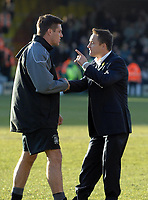 Photo: Ashley Pickering.<br />Southend United v Leeds United. Coca Cola Championship. 17/03/2007.<br />Leeds manager Dennis Wise (R) speaks to Southend manager Steve Tilson at the end of the game