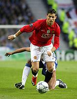 20090415: PORTO, PORTUGAL - FC Porto vs Manchester United: Champions League 2008/2009 – Quarter Finals – 2nd leg. In picture: Cristiano Ronaldo. PHOTO: Manuel Azevedo/CITYFILES