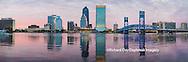 63412-01002 Jacksonville skyline at dusk, Jacksonville, FL