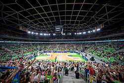 General view of an arena Stozice during friendly basketball match between National teams of Slovenia and Croatia, on June 18, 2021 in Arena Stozice, Ljubljana, Slovenia. Photo by Vid Ponikvar / Sportida