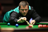 Mark Allen (NI) in action. Marco Fu (HK) v Mark Allen (NI) , Quarter-Final match at the Dafabet Masters Snooker 2017, at Alexandra Palace in London on Thursday 19th January 2017.<br /> pic by John Patrick Fletcher, Andrew Orchard sports photography.