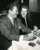 1952 Kirk Douglas and Rita Hayworth at Ciro's Nightclub